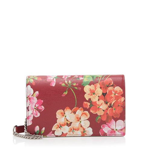 Gucci Leather Blooms Wallet on Chain Bag