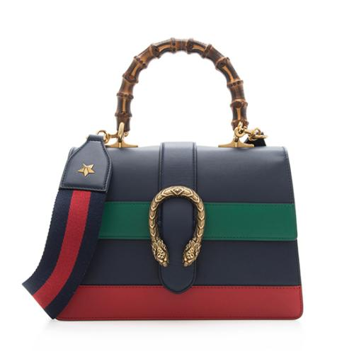 Gucci Leather Borsa Dionysus Medium Top Handle Bag