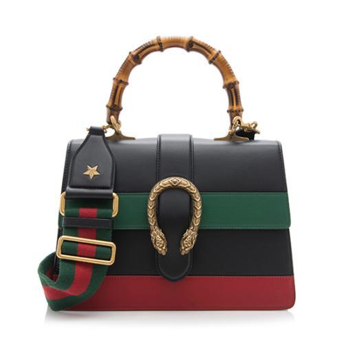 c28007b6ef Gucci Leather Borsa Dionysus Medium Top Handle Bag | Gucci Handbags ...