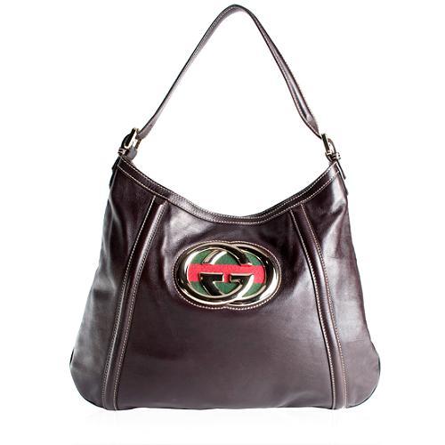 Gucci Leather Britt Hobo Handbag