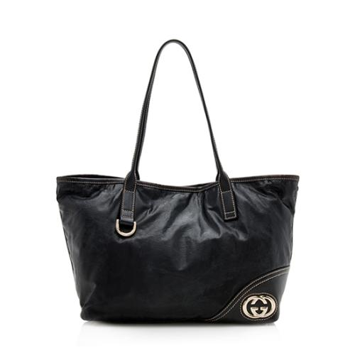 Gucci Leather Britt Medium Tote