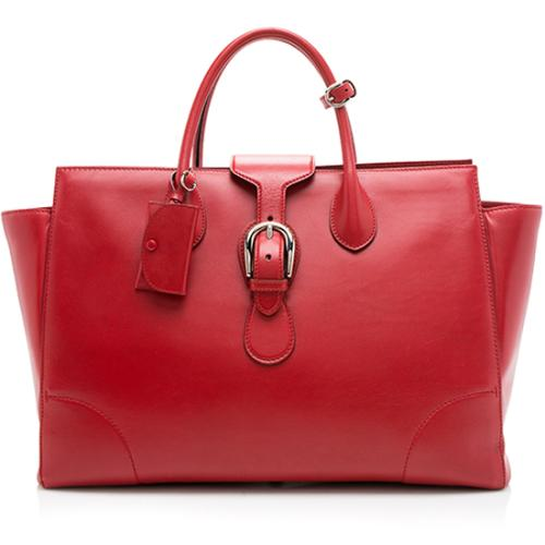 Gucci Leather Carry On Buckle Tote