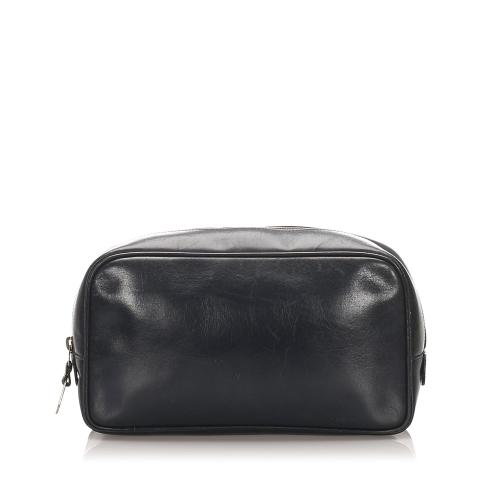 Gucci Leather Cosmetic Bag