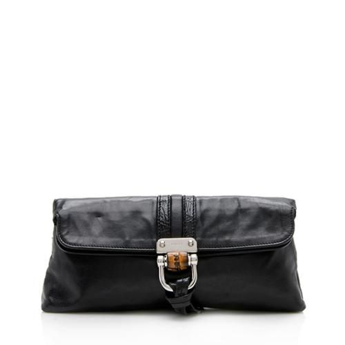 Gucci Leather Croisette Clutch