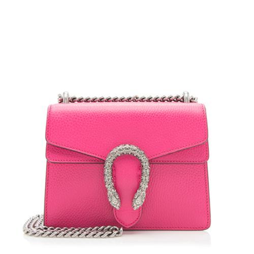 Gucci Leather Crystal Dionysus Mini Bag