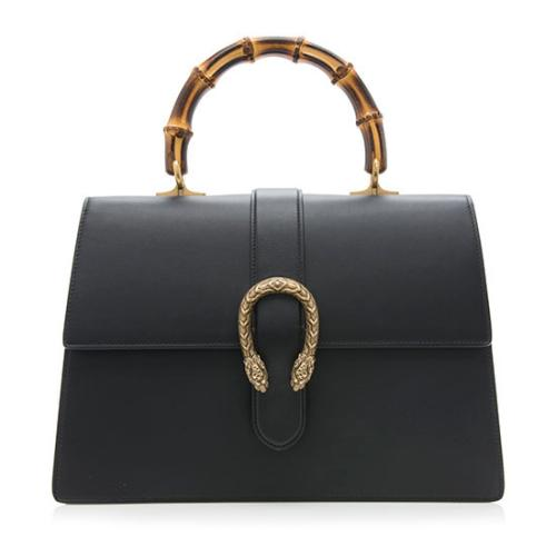 Gucci Leather Dionysus Bamboo Top Handle Satchel