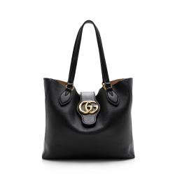 Gucci Leather Double G Small Tote