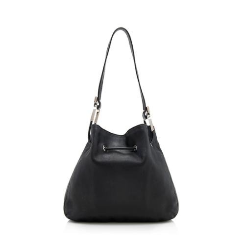 Gucci Leather Drawstring Shoulder Bag