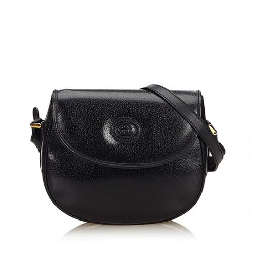 Gucci Vintage Leather Flap Crossbody Bag