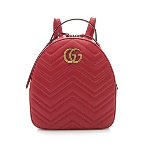 Gucci Leather GG Marmont Backpack