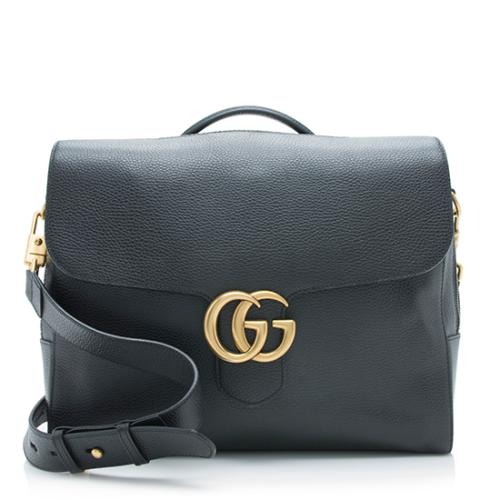Gucci Leather GG Marmont Briefcase