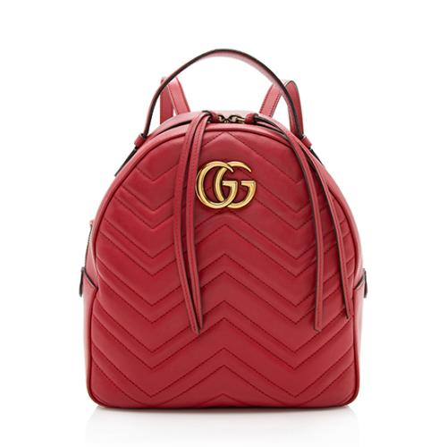 Gucci Leather Gg Marmont Mini Backpack