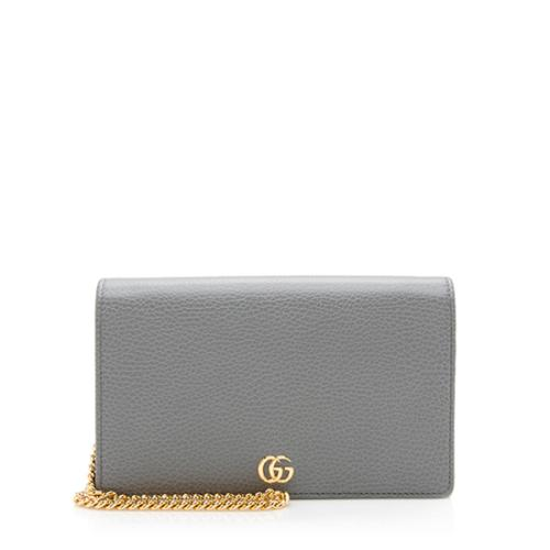Gucci Leather GG Marmont Mini Chain Bag