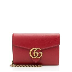 Gucci Leather GG Marmont Mini Chain Bag