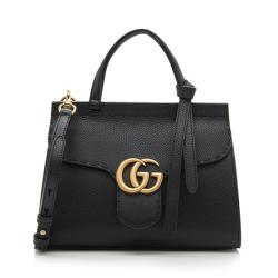 Gucci Leather GG Marmont Mini Top Handle Bag