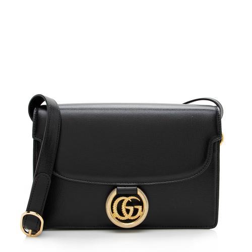 Gucci Leather GG Ring Shoulder Bag