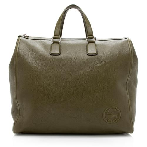 Gucci Leather GG Weekender Bag
