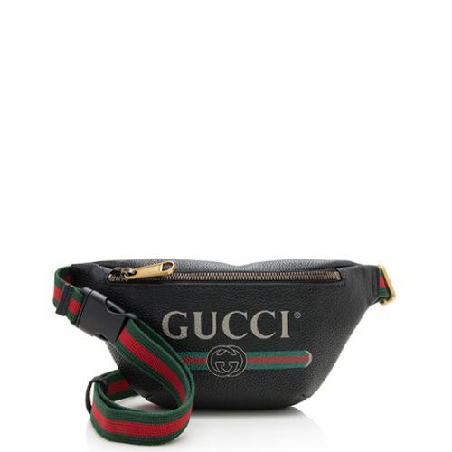 Gucci Leather Gucci Print Small Belt Bag