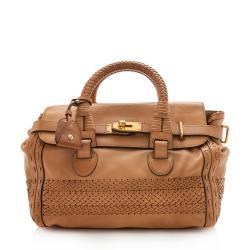 Gucci Leather Handmade Top Handle Medium Satchel