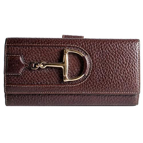 Gucci Leather Hasler Continental Wallet