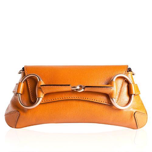 Gucci Leather Horsebit Large Clutch