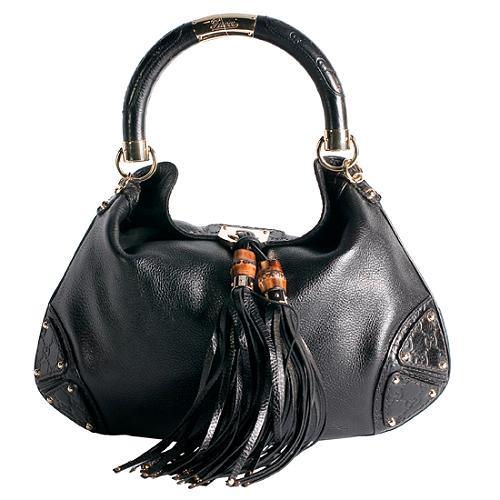 4a0674944f3 Gucci Leather Indy Medium Top Handle Satchel Handbag
