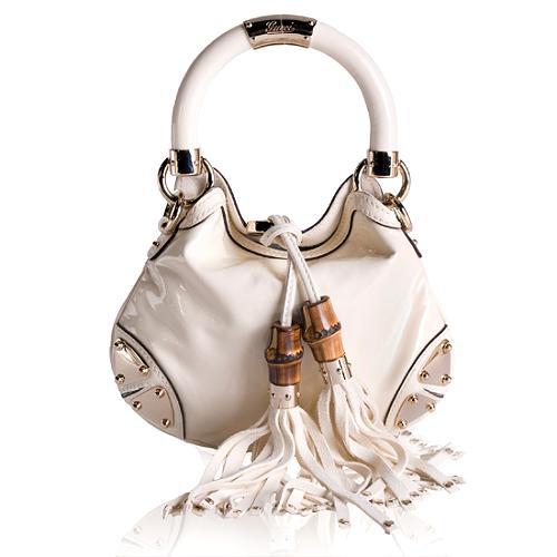 Gucci Leather Indy Mini Top Handle Handbag