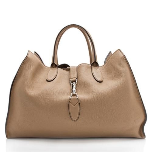 Gucci Leather Jackie Soft Tote