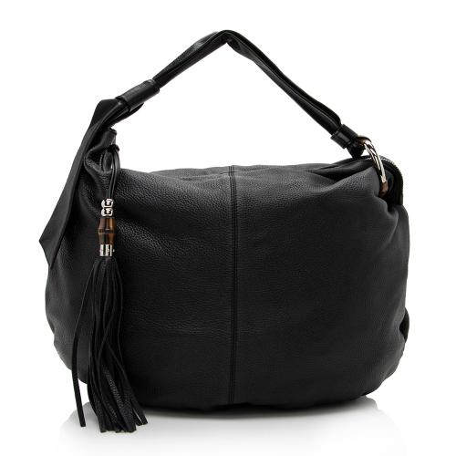 Gucci Leather Jungle Large Hobo