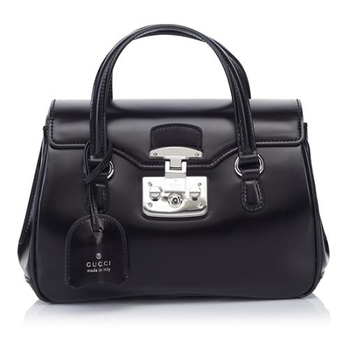 Gucci Leather Lady Lock Medium Satchel