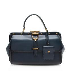 Gucci Leather Lady Stirrup Top Handle Satchel