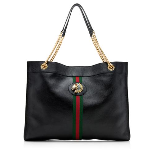 Gucci Leather Large Rajah Tote