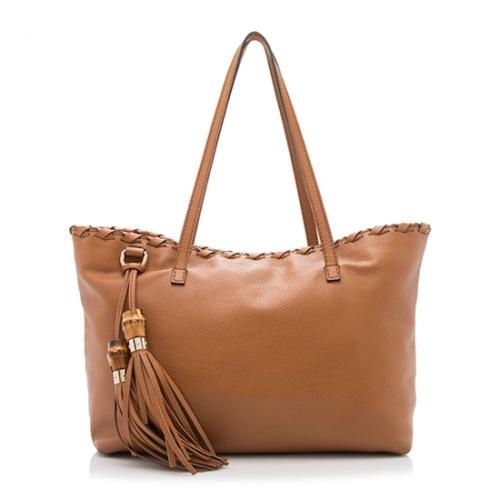Gucci Leather Large Tassel Tote