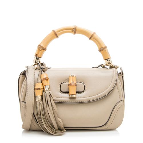 Gucci Leather New Bamboo Top Handle Small Satchel - FINAL SALE