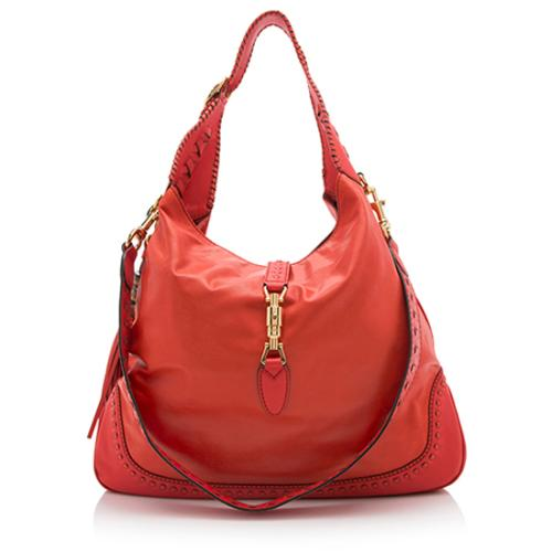 Gucci Leather New Jackie Large Hobo