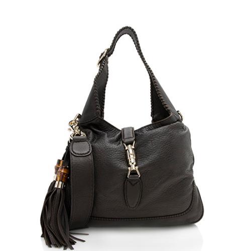 Gucci Leather New Jackie Shoulder Bag