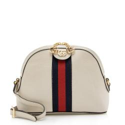 Gucci Leather Ophidia Dome Small Shoulder Bag