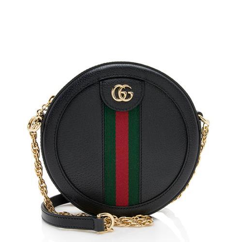 5f4a1f2e269b Gucci Leather Ophidia Mini Round Shoulder Bag