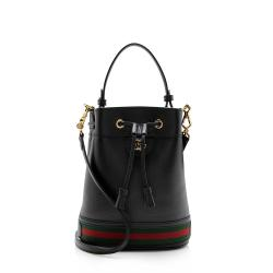 Gucci Leather Ophidia Small Bucket Bag