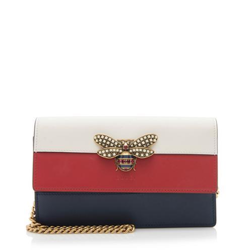 Gucci Leather Queen Margaret Mini Chain Bag
