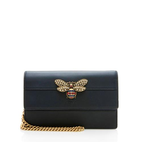 Gucci Leather Queen Margaret Wallet on Chain