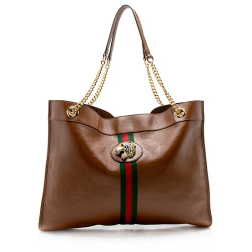 Gucci Leather Rajah Large Tote