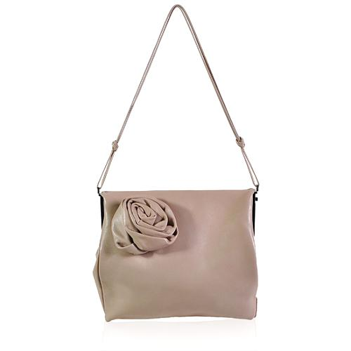 Gucci Leather Rose Evening Shoulder Handbag