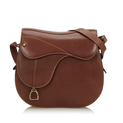 Gucci Leather Saddle Bag