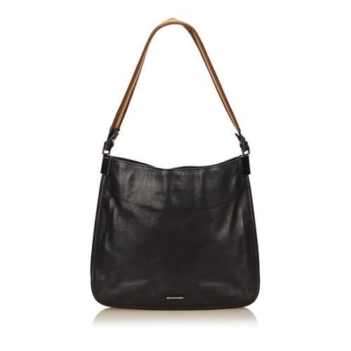 Gucci Leather Web Shoulder Bag