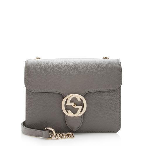 Gucci Leather Interlocking G Small Shoulder Bag
