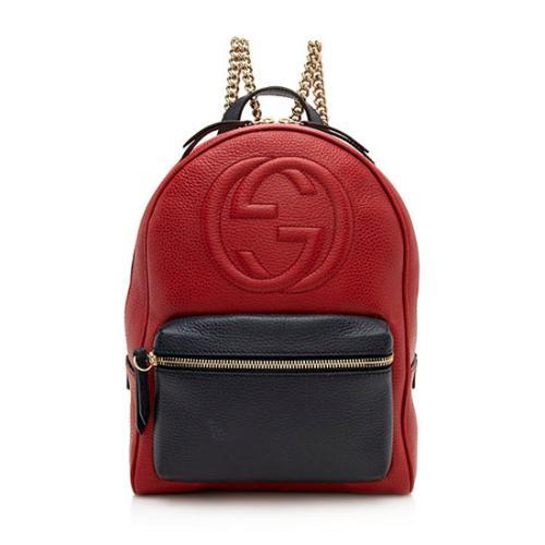 Gucci Leather Soho Chain Backpack