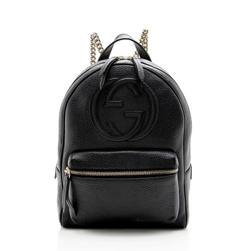 Gucci Leather Soho Chain Backpack
