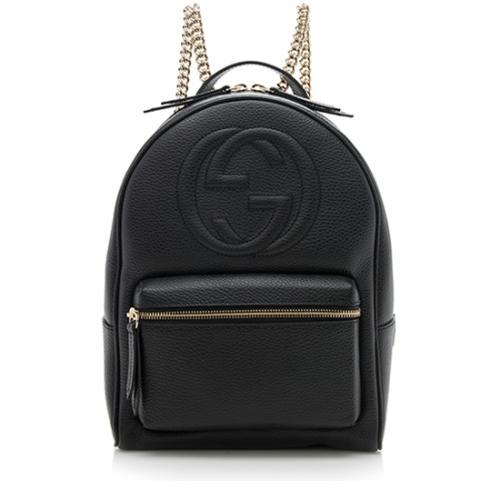 cc37bffaece Gucci Leather Soho Chain Backpack