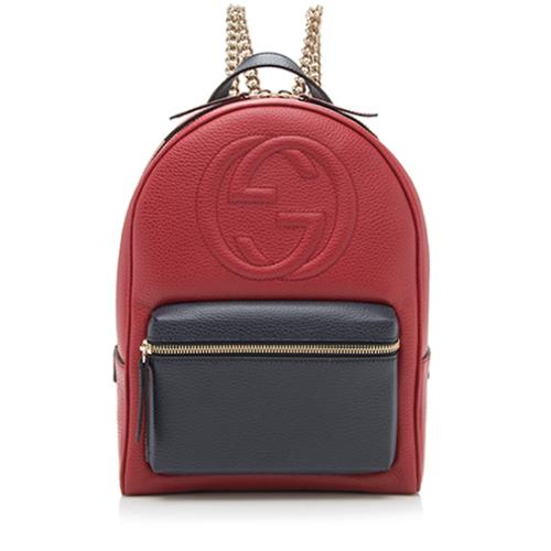18512d5fec2 Gucci Leather Soho Chain Backpack